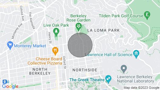 Craftsman Architectural Landmark Home North Berkeley Near UC Map
