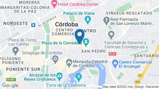 Hotel Eurostars Patios de Córdoba Map
