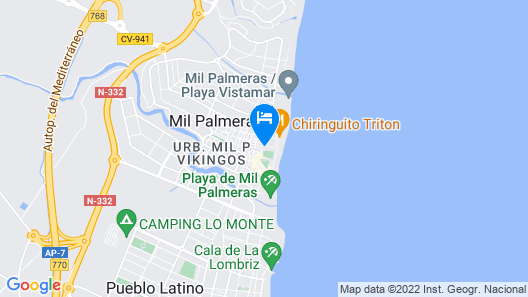 Holiday home Vistamar (Wi-fi hot Pool 1-st line) Map
