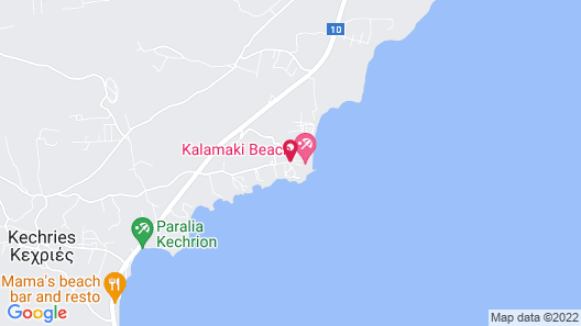 Kalamaki Beach Resort  Map