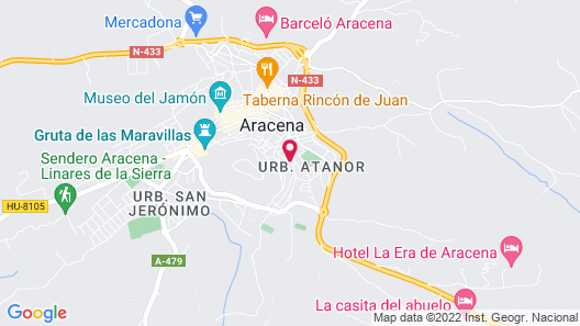 Hotel Convento Aracena & Spa Map