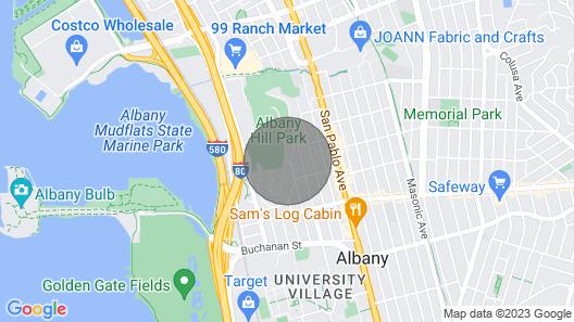 Bright & Lovely Albany Hill Condo Map