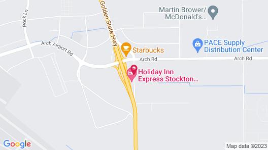 Holiday Inn Express Stockton Southeast, an IHG Hotel Map