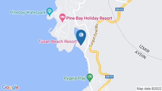 Tusan Beach Resort Map