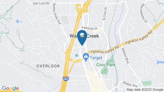 Residence Inn by Marriott Walnut Creek Map