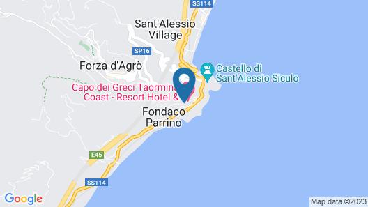 Capo Dei Greci Taormina Coast Resort Hotel & SPA Map