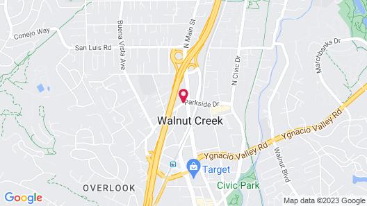 Walnut Creek Marriott Map