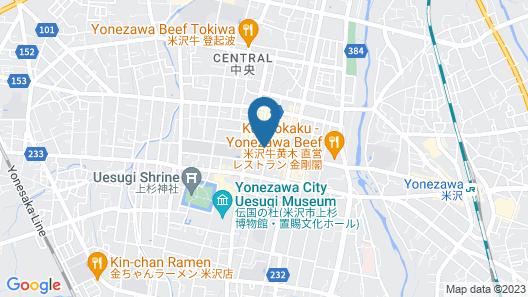 Hotel Montoview Yonezawa Map