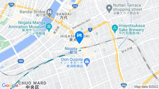 Toyoko Inn Niigata Ekimae Map