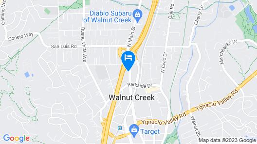 Motel 6 Walnut Creek, CA Map