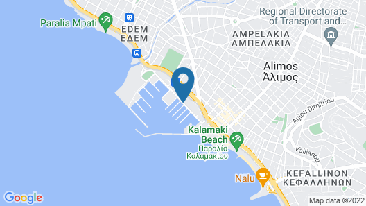 Property With 3 Bedrooms in Alimos, With Wonderful sea View, Furnished Terrace and Wifi - 500 m From the Beach Map