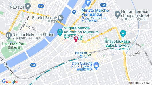 Comfort Hotel Niigata Map