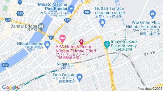 Dormy Inn Niigata Natural Hot Spring Map