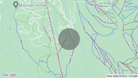 Zen on Sundance - SKI In/ski OUT Exquisitely Peaceful Home Map