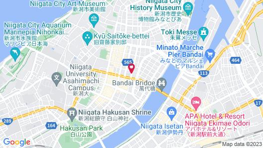 Toyoko Inn Niigata Furumachi Map
