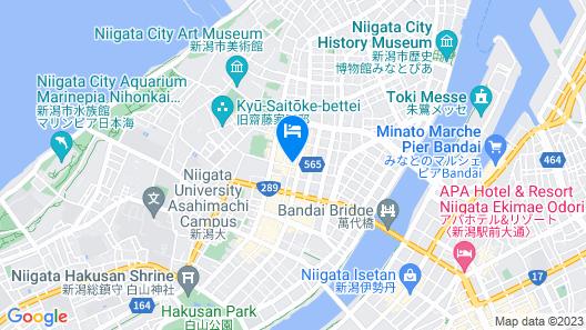 Hotel Crown Hills Nigata Map