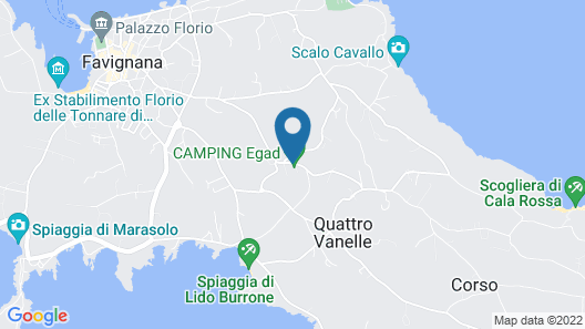 Camping Villaggio Egad Map
