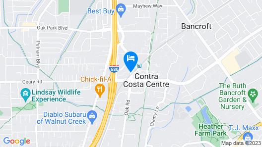 Embassy Suites by Hilton Walnut Creek Map
