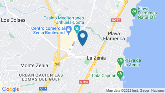 Secreto de la Zenia Apartments - Marholidays Map