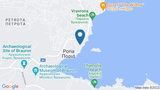 Areos Galaxy Apartments With Beach View Map