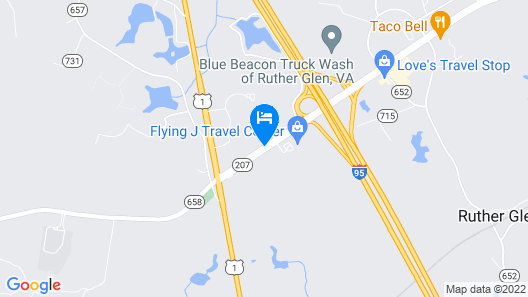 Days Inn by Wyndham Ruther Glen Kings Dominion Area Map