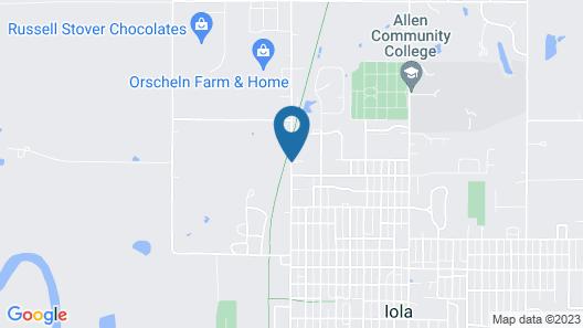 Americas Best Value Inn Iola Map