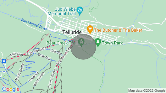 2br/2ba Condo in Historic Telluride Map