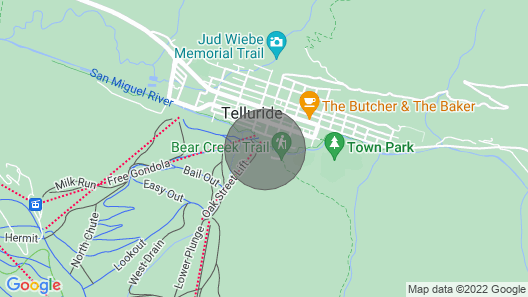 Manitou Lodge by Alpine Lodging Telluride Map