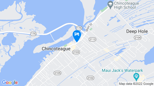 Hampton Inn & Suites Chincoteague Waterfront Map