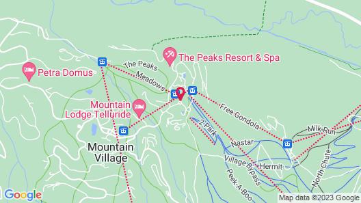 Kayenta Condominium by Telluride Resort Lodging Map