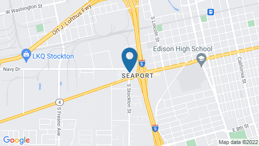 Motel 6 Stockton, CA - Charter Way West Map