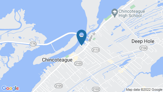 Key West Cottages on the Chincoteague Bay Map