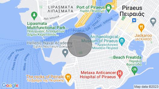 Luxury 2 Bedroom Maisonette With Sea View in Piraeus, Athens Map