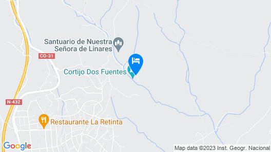 Apartamentos turíst. rurales Dos Fuentes Map