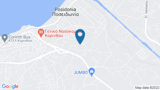 3 Bedroom Accommodation in Korinthos Map