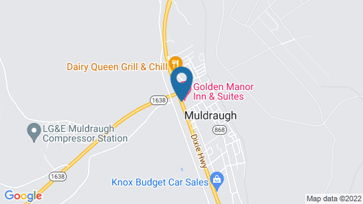 Golden Manor Inn & Suites Map