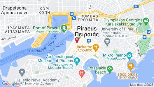 Piraeus City Hotel Map