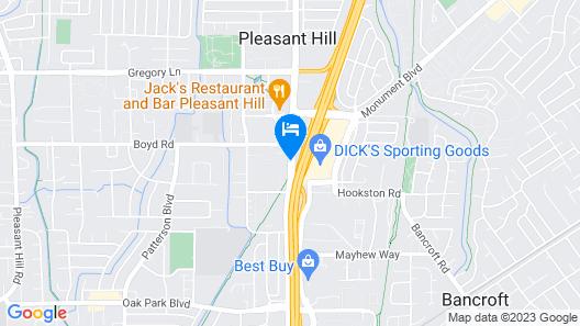 HYATT house Pleasant Hill Map