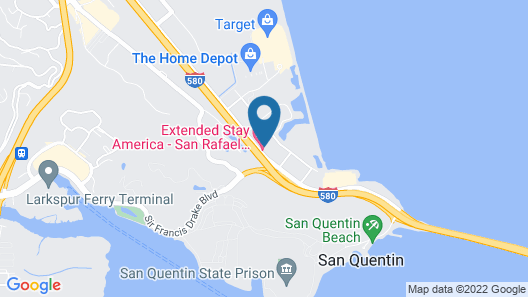 Extended Stay America Suites San Rafael Francisco Blvd East Map