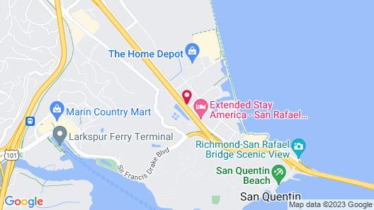 Extended Stay America San Rafael - Francisco Boulevard East Map