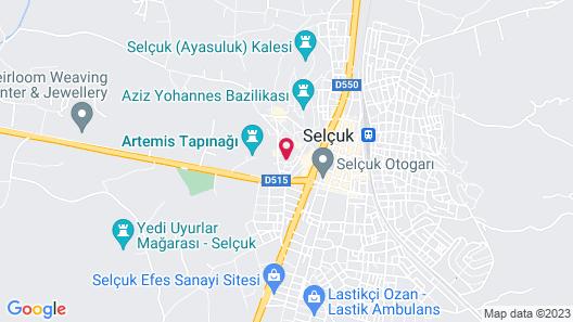 Akanthus Hotel Ephesus Map