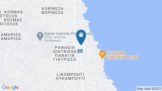 Villa d'Irene - near Athens airport, 200 meters from the beach Davis Map