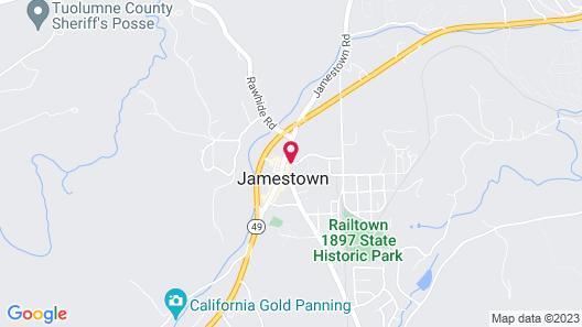 Jamestown Railtown Motel Map