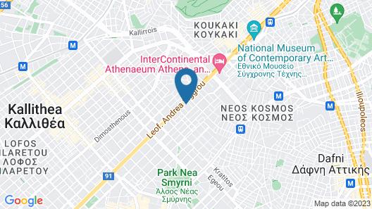 Athenaeum Palace & Luxury Suites Map