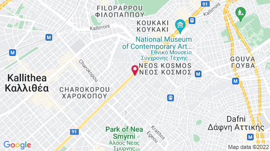 Grand Hyatt Athens Map