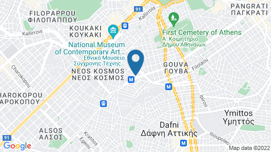 Bedway Athens Hostel Map
