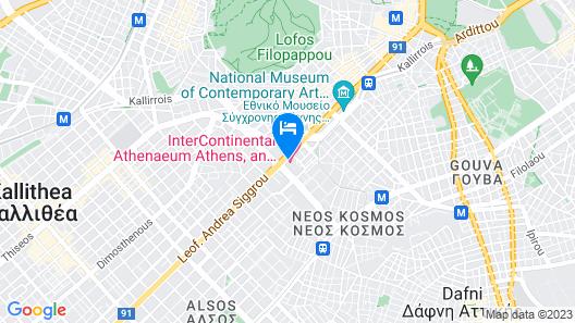 Athenaeum InterContinental Map