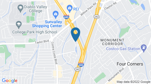 Homewood Suites by Hilton Pleasant Hill CA Map