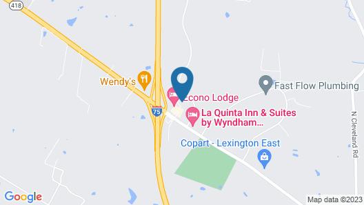 Comfort Inn Lexington Southeast Map