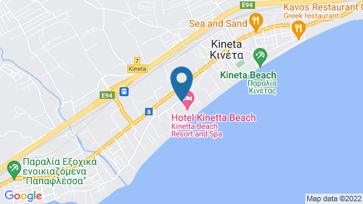 Kinetta Beach Resort & Spa - All Inclusive Map